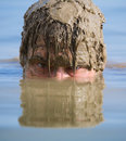 The man in water Royalty Free Stock Image