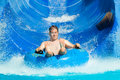 Man at water park Royalty Free Stock Photo