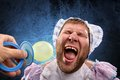 Man weared as baby Royalty Free Stock Photo
