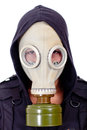 Man wearing a gas mask Royalty Free Stock Image