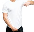 Man in white t-shirt Stock Photography