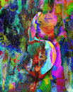 Man and woman art abstraction. Royalty Free Stock Photo