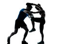 Man woman boxing training Royalty Free Stock Photo