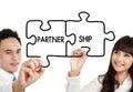 Muž a žena obchod partnerství