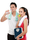 Man and woman concept of diet Royalty Free Stock Photo