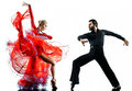 Man woman couple ballroom tango salsa dancer dancing silhouette Royalty Free Stock Photo