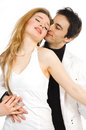 The man and  woman dance Stock Photography