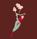 Man and woman dancing Royalty Free Stock Photos