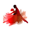 Man and woman dancing tango. Vector illustration Royalty Free Stock Photo