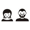 Man and woman face icons Royalty Free Stock Photo