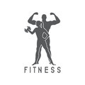 Man and woman of fitness silhouette design temp