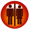 Man and woman icon Stock Image