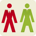 Man woman icon (vector) Stock Image