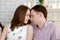 Man and woman looking for tenderness and closeness young men women Stock Image