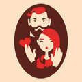 Man and woman in love Royalty Free Stock Images