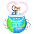 Man and Woman the Love a honeymoon. A couple of Love Character D Royalty Free Stock Photo