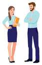 Man and woman office workers Royalty Free Stock Photo