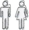 Man and woman people sticker Royalty Free Stock Photos