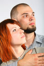 Man and woman profile Stock Images