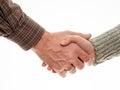 Man and woman shake hands Royalty Free Stock Photo