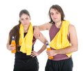 Man And Woman In Sports Wear R...