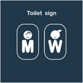 Man and woman toilet sign, restroom symbol