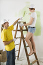 Man and woman working well together Stock Images