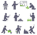 Man at work set for you design Royalty Free Stock Image