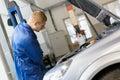 Man worker in auto service