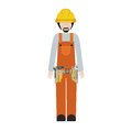 Man worker with toolkit and beard