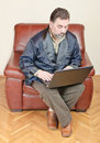 Man working at home Royalty Free Stock Photo