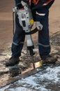 Man working a jackhammer Royalty Free Stock Photo