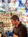 Man working on Roman Market Royalty Free Stock Photo