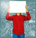Man With Write Board Against Love Background Royalty Free Stock Photo