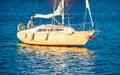Man in yacht