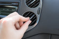Manage air conditioning in a car for comfort Royalty Free Stock Images