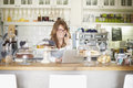 Manage my cafe Royalty Free Stock Photo