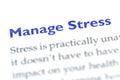 Manage stress Royalty Free Stock Photo