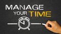 Manage your time on blackboard Royalty Free Stock Images