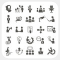Management and business icons set eps don t use transparency Royalty Free Stock Photography