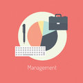 Management flat illustration concept design modern vector of poster on business or finance workflow theme on stylish color Stock Photography