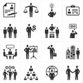 Management and Human Resource Icons Stock Photos