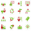 Management icons - green-red series Stock Image