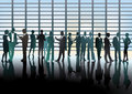 Management meeting an illustration of business people in a Royalty Free Stock Image