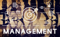 Management organization coordination target concept Royalty Free Stock Image