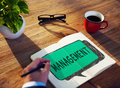 Management organization director managing customize concept Royalty Free Stock Images