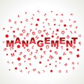 Management word with in alphabets Royalty Free Stock Photo