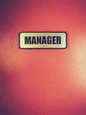 Manager Door Sign Royalty Free Stock Photo