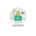 Manager Icon Management Business Team Leadership