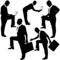 Manager job - Silhouettes Royalty Free Stock Photo